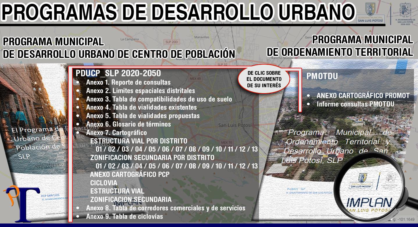 Consulte aquí los programas de desarrollo urbano de SLP